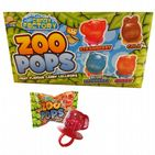 4 x Zoo Pops Mini Lolly Sweets Lollies With Rings - Crazy Candy Factory 11g Each